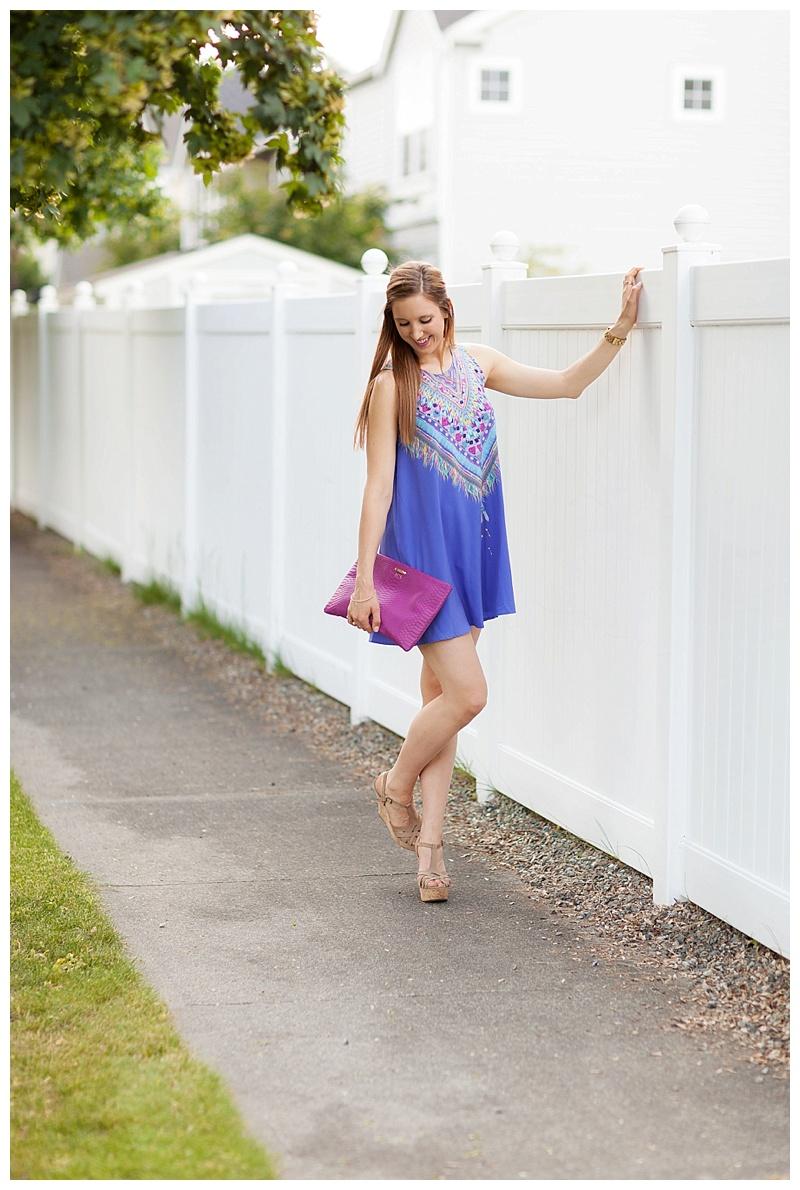 Purple Print Dress