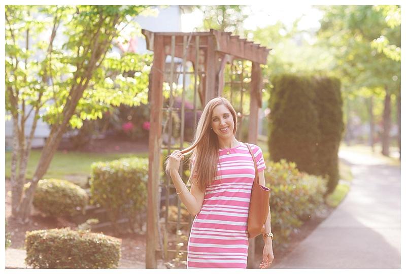Striped Pink Dress