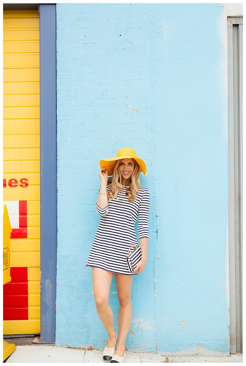 Stripes and A Pop of Yellow