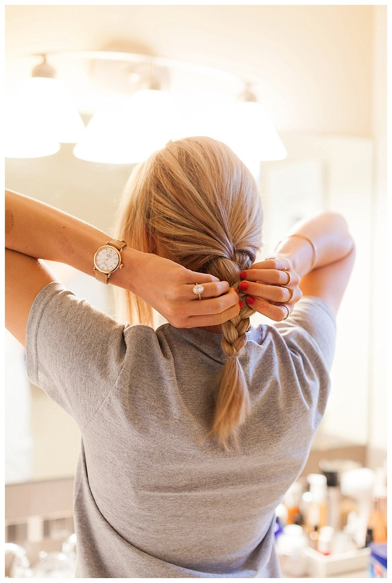 How To Create An Elegant Braided Updo in Under 5 Minutes