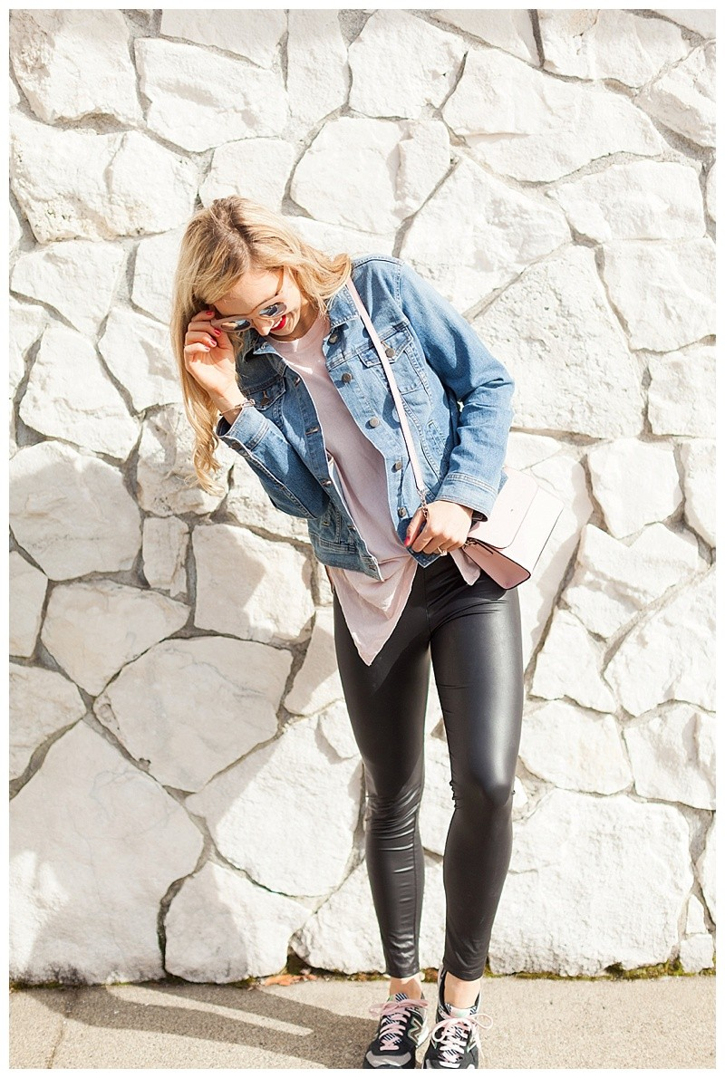 How To Style Faux Leather Leggings For Spring
