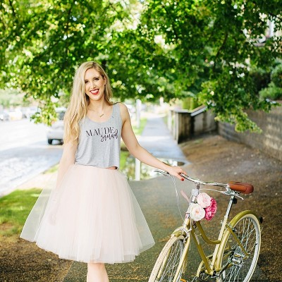 blush and camo, fashion blog, style blog, how to wear, tulle skirt, feminine