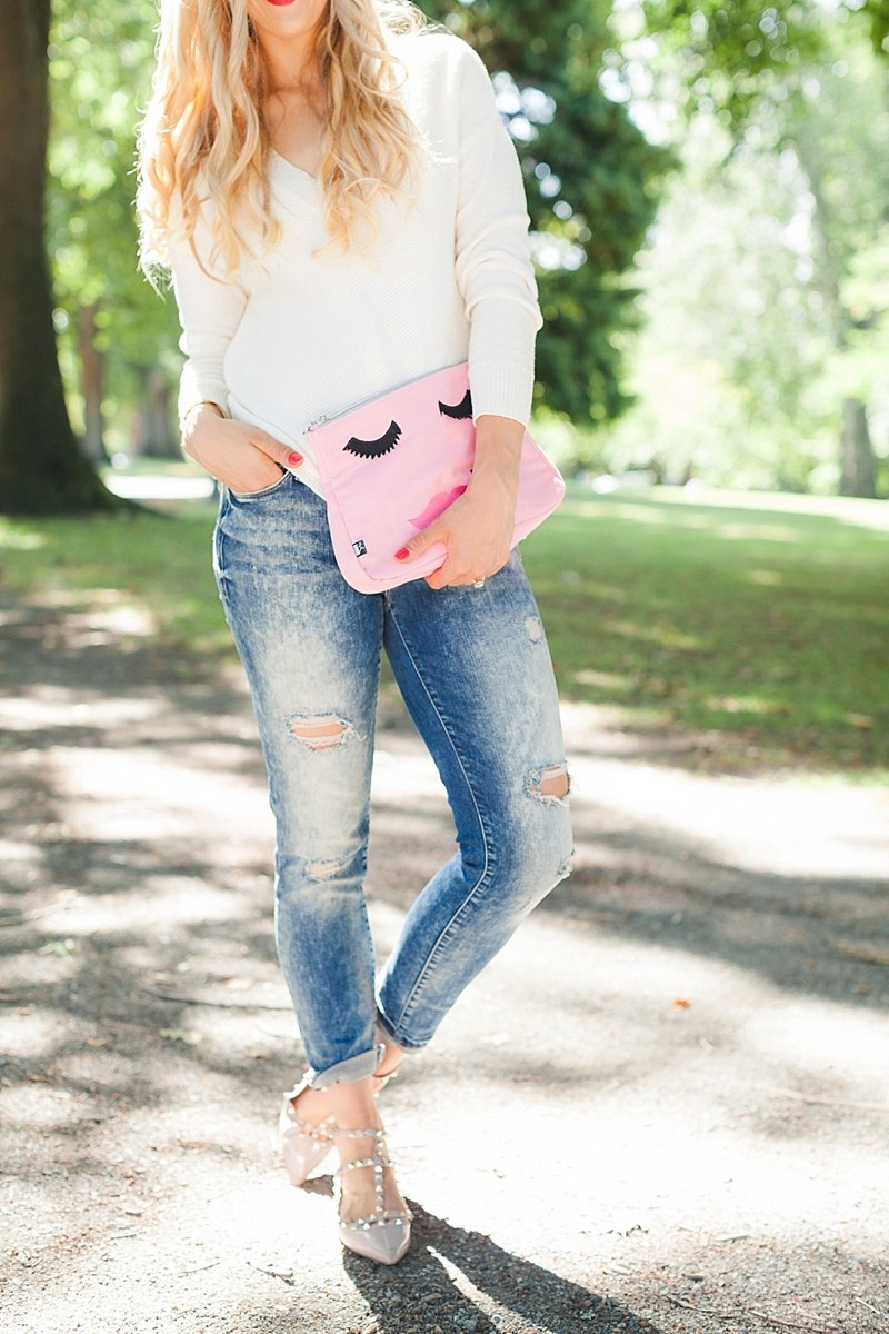 blush and camo, valentino rockstud flats, casual style, weekend style, how to style, fashion blog