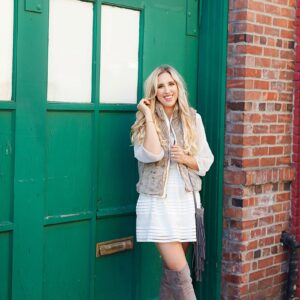 blush and camo, how to style, style tips, how to get ready in a rush, chic style, over the knee boots, fashion blog, style blog, blush and came blog, fall fashion
