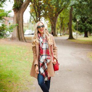 blush and camo, fall fashion, It Girl, style blog, fashion blog, plaid, booties