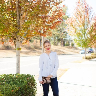 blush and camo, fitcode, hudson jeans, fall fashion, style tips, denim, how to buy