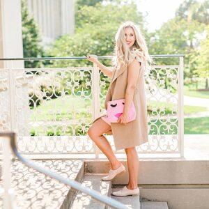 blush and camo, style blog, fashion blog, south carolina style, pink dress, fall fashion, fall style, mgemi shoes