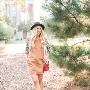 blush and camo, fashion blogging, stripes, fall fashion, coach purse, leather booties