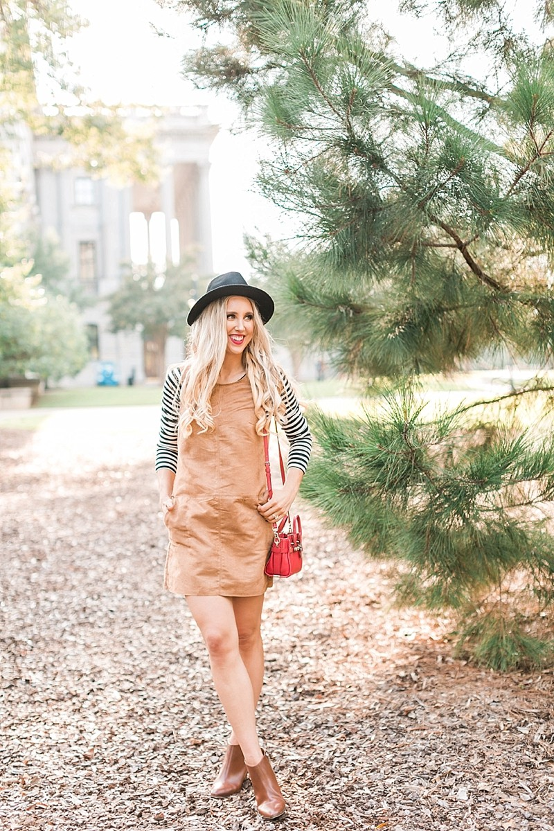 blush and camo, fashion blogging, stripes, fall fashion, coach purse, leather booties