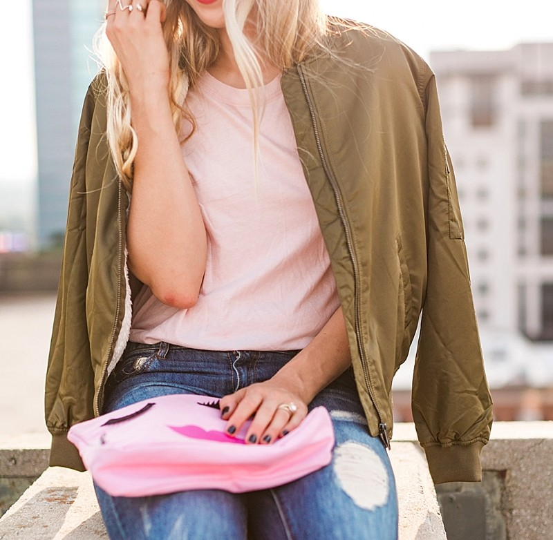 blush and camo, style blog, fashion blog, bomber jacket, how to style, style tips, valentino rocketed caged flats, trendy style, fall fashion, fall style