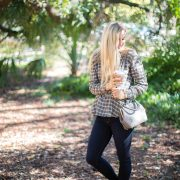 enso rings, blush and camo, fashion blog, active lifestyle, plaid, fall fashion