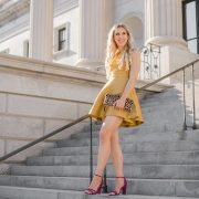 blush and camo, thanksgiving style, fashion blog, charlotte russe heels, gold dress
