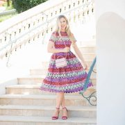 blush and camo, alexis dress, how to style, style tips, feminine style, blonde hair, kate spade handbag, holiday style