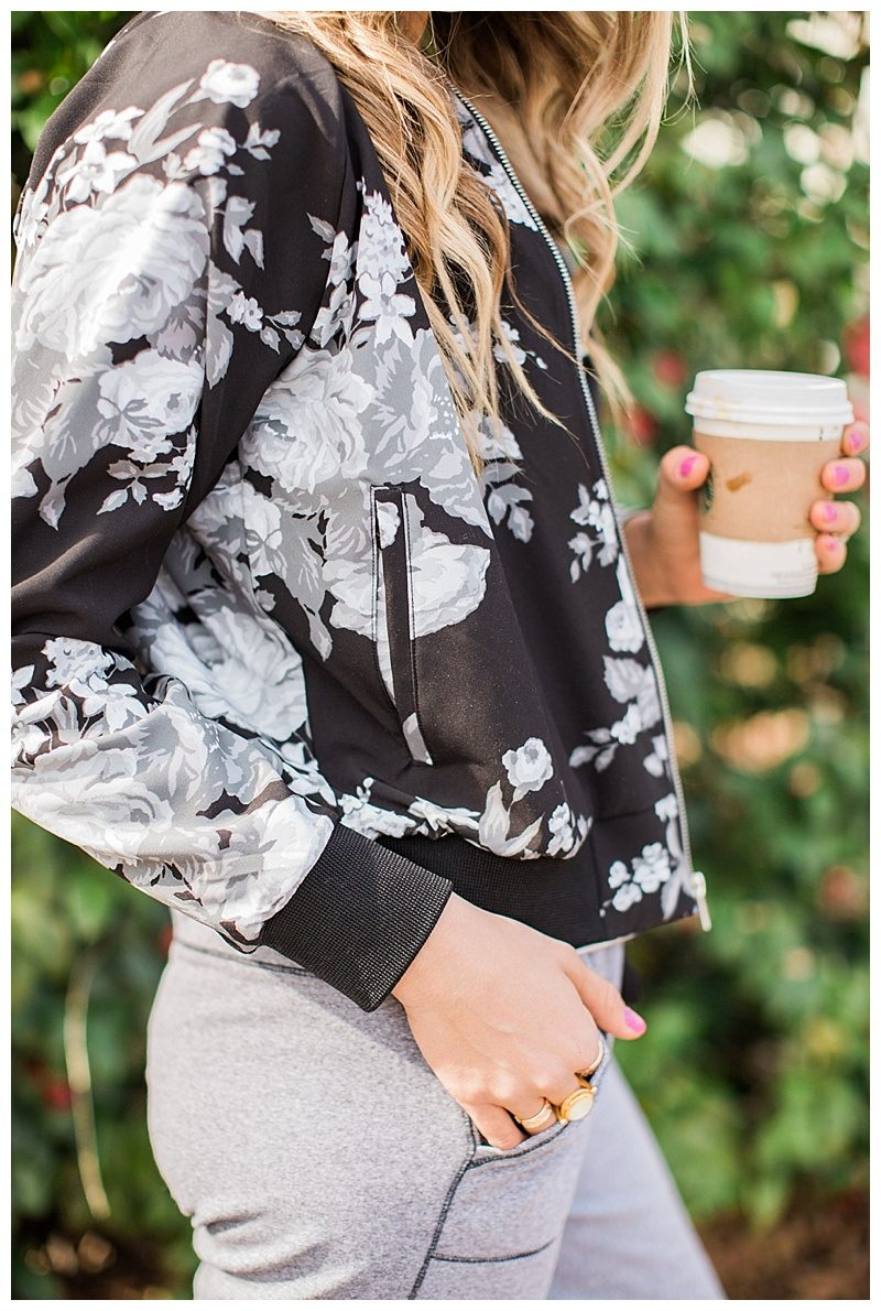 blush and camo, albion fit, athlesisure, joggers, nike, bomber jacket