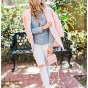 blush and camo, chambray, canandian tuxedo, pastel, spring style, old navy jeans. m. gemi, kate spade