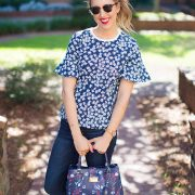 blush and camo, draper james, MEADOW GARDEN LIGHTWEIGHT TERRY TEE, DUNAWAY VINES CAROLINE TOTE, spring style