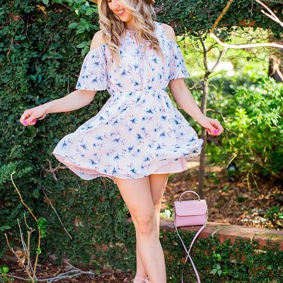 blush and camo, blogging tips, blog tips, tips, shop maude dress, shop maude, blush dress, boater hat, DSW shoes, blush shoes, block heels, nine west heels, kate spade handbag