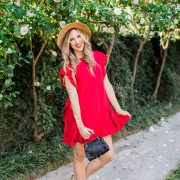blush and camo. red valentino, spring style, chanel flats, boater hat francesca's, style tips
