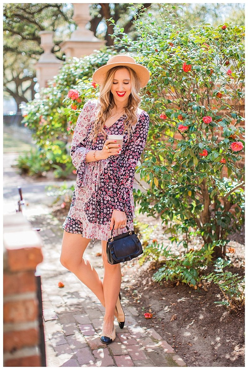 blush and camo, blog tips, photography tips, photography, spring style, rebecca minkoff, chanel flats, boater hat