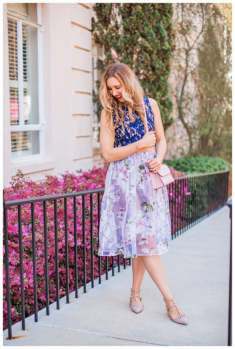 blush and camo, style tips, morning lavender skirt, spring style, valentino shoes, kate spade handbag, spring fashion