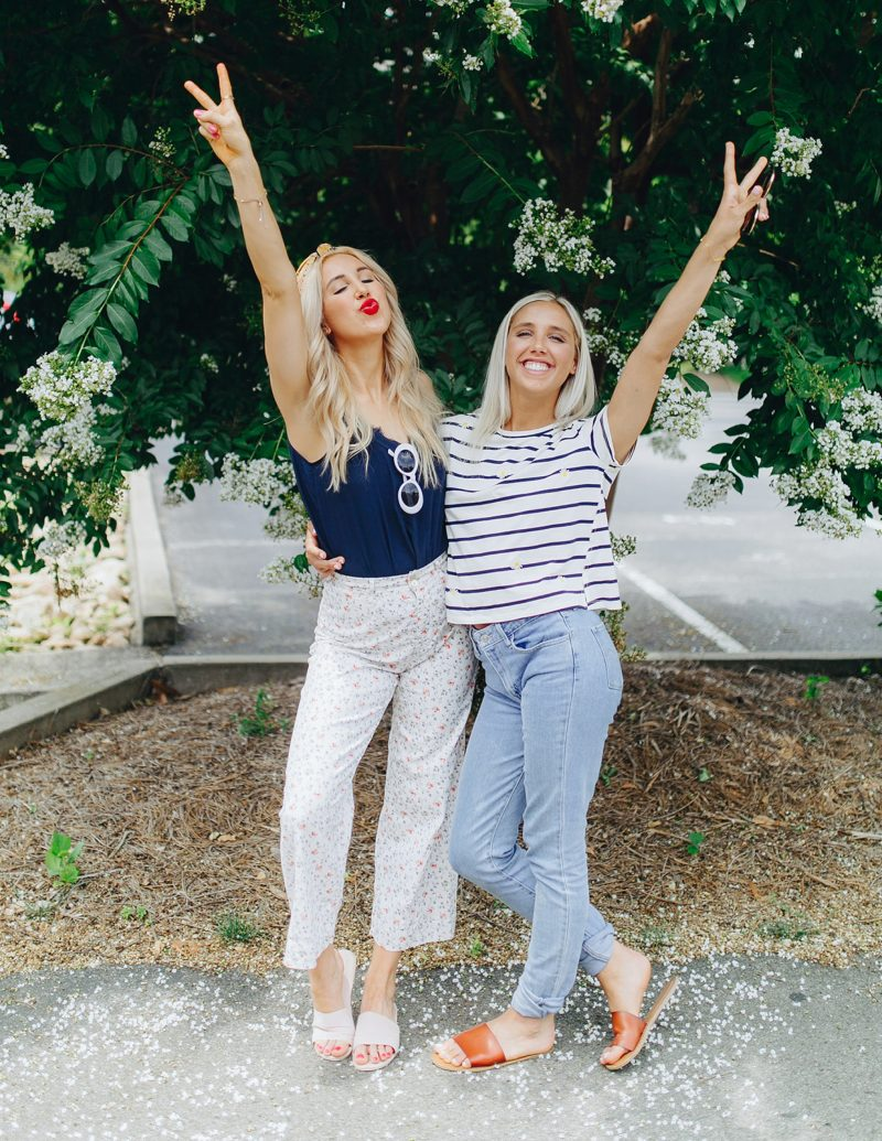 blush and camo, sister style, sisters in nashville, rach parc collection, summer style