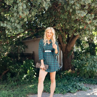 fall fashion, closet shopping, style tips, fall style tips, flannel dress, flannel top, j crew flannel top, nashville style, blush and camo