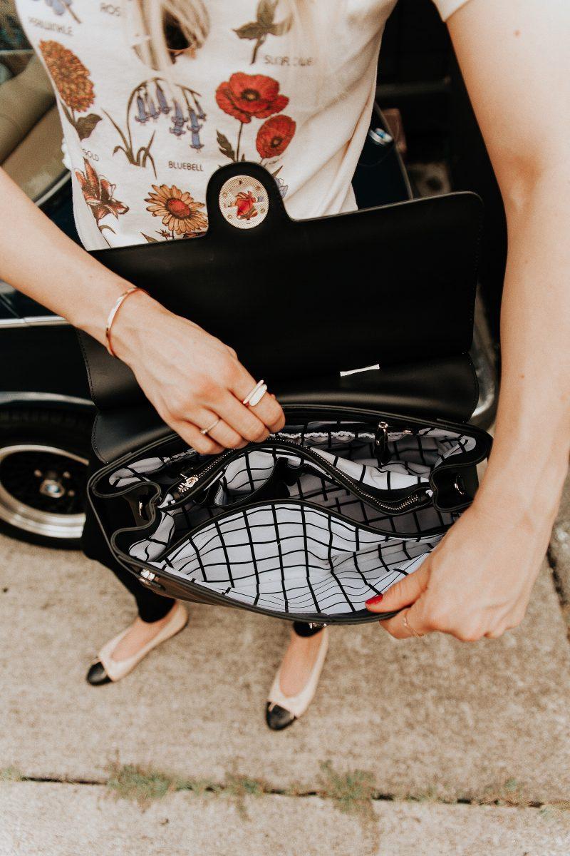 blush and camo, jemma nyc, jemma handbag, JEMMA, handbag review, chic handbags, work handbags