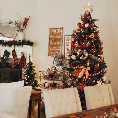 blush and camo, nashville home tour, home tour, christmas decorations, nashville home