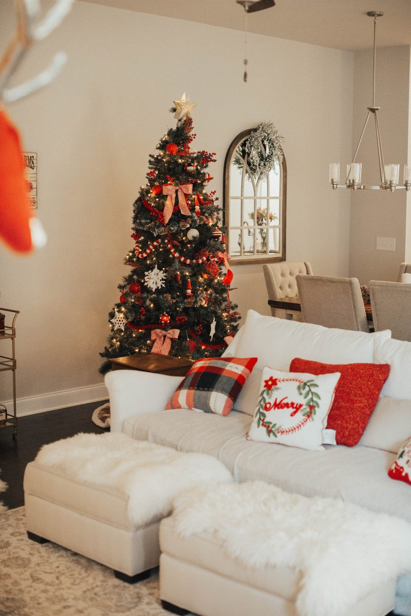 blush and camo, nashville home tour, home tour, christmas decorations, nashville home