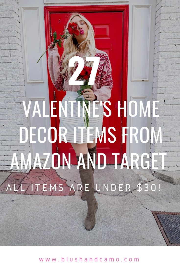 Home Decor, Valentine's Day home decor, holiday home decor, inexpensive home decor, Galentine's day party decor, galentine's day