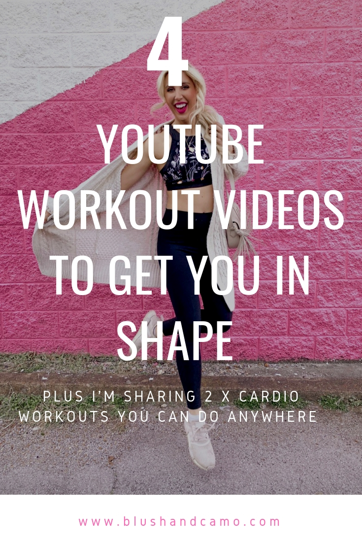 YouTube Workout, Workouts at Home, Full Body Workout at Home, Blush & Camo, free workouts at home