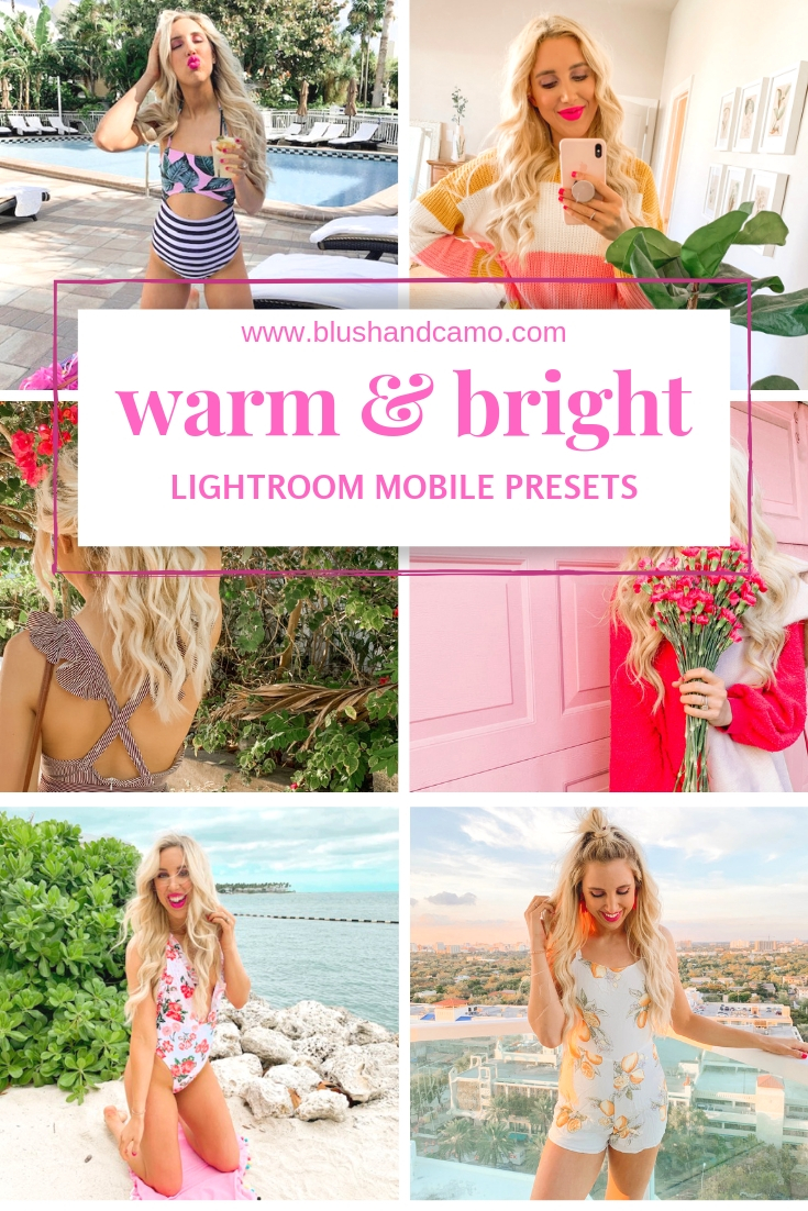 Blush and Camo Presets, warm and bright presets, affordable presets, lightroom mobile presets, mobile presets, bright presets, presets for instagram