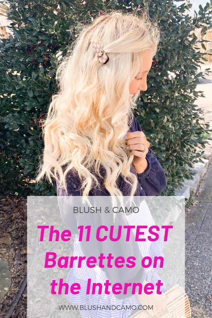 hair barrette, hair trends, hair clip, affordable hair accessories, hair accessories, blush and camo