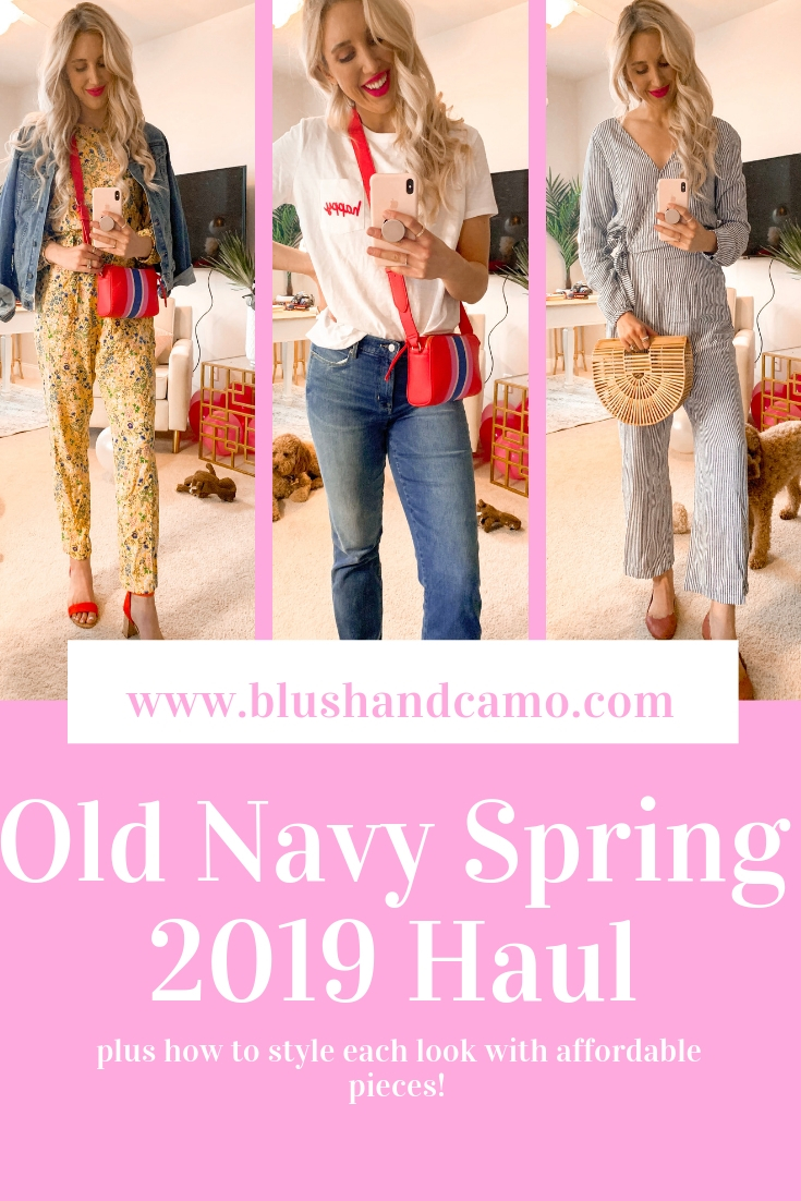 54215c3d3066 Old Navy Spring 2019 Haul Under  50 - Blush   Camo