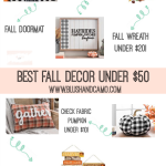 BEST Fall Home Decor Under $50