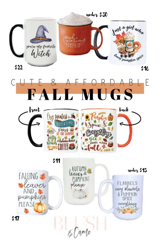Affordable Fall Mugs From Etsy