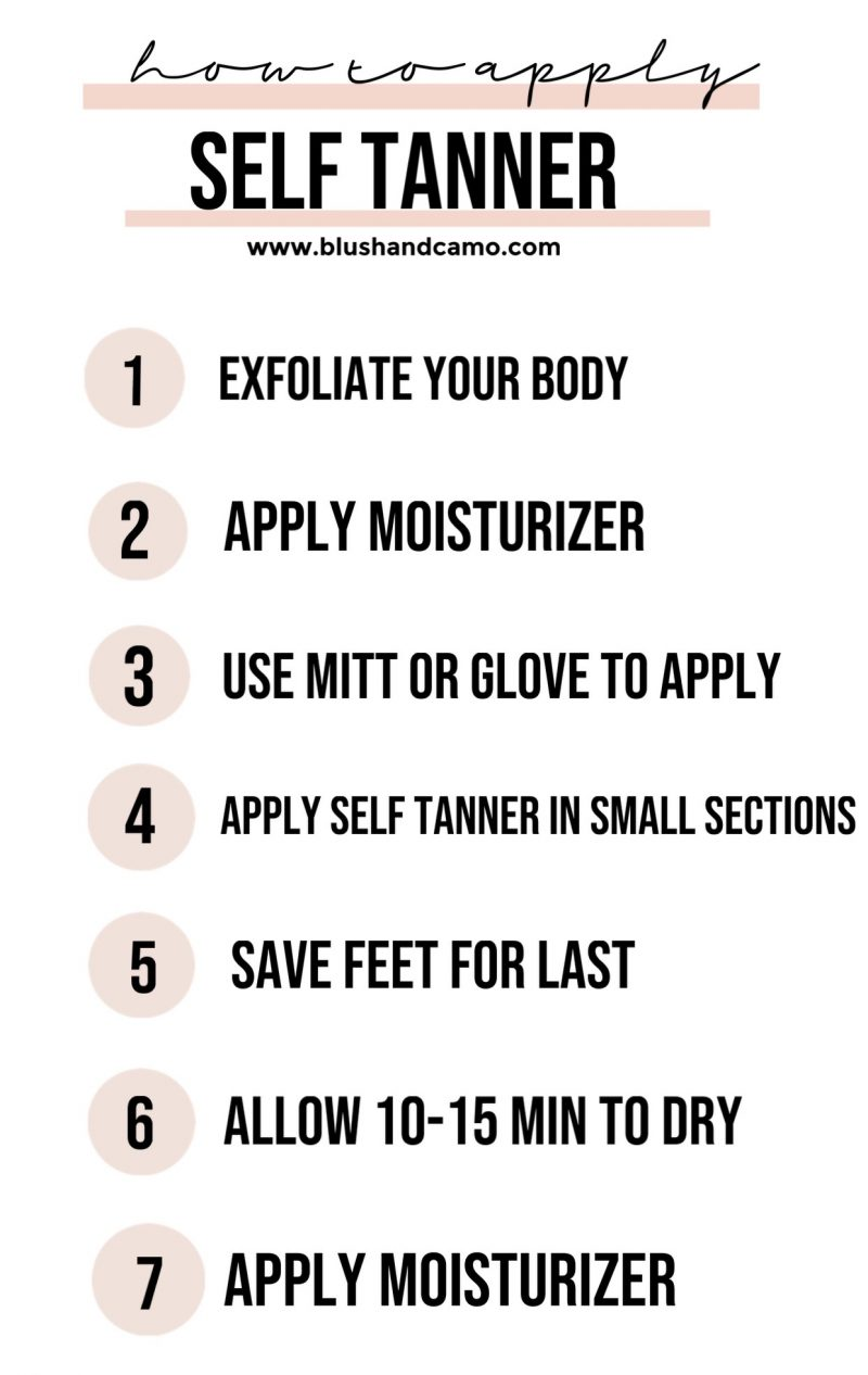 How To Apply Self Tanner in 7 Steps