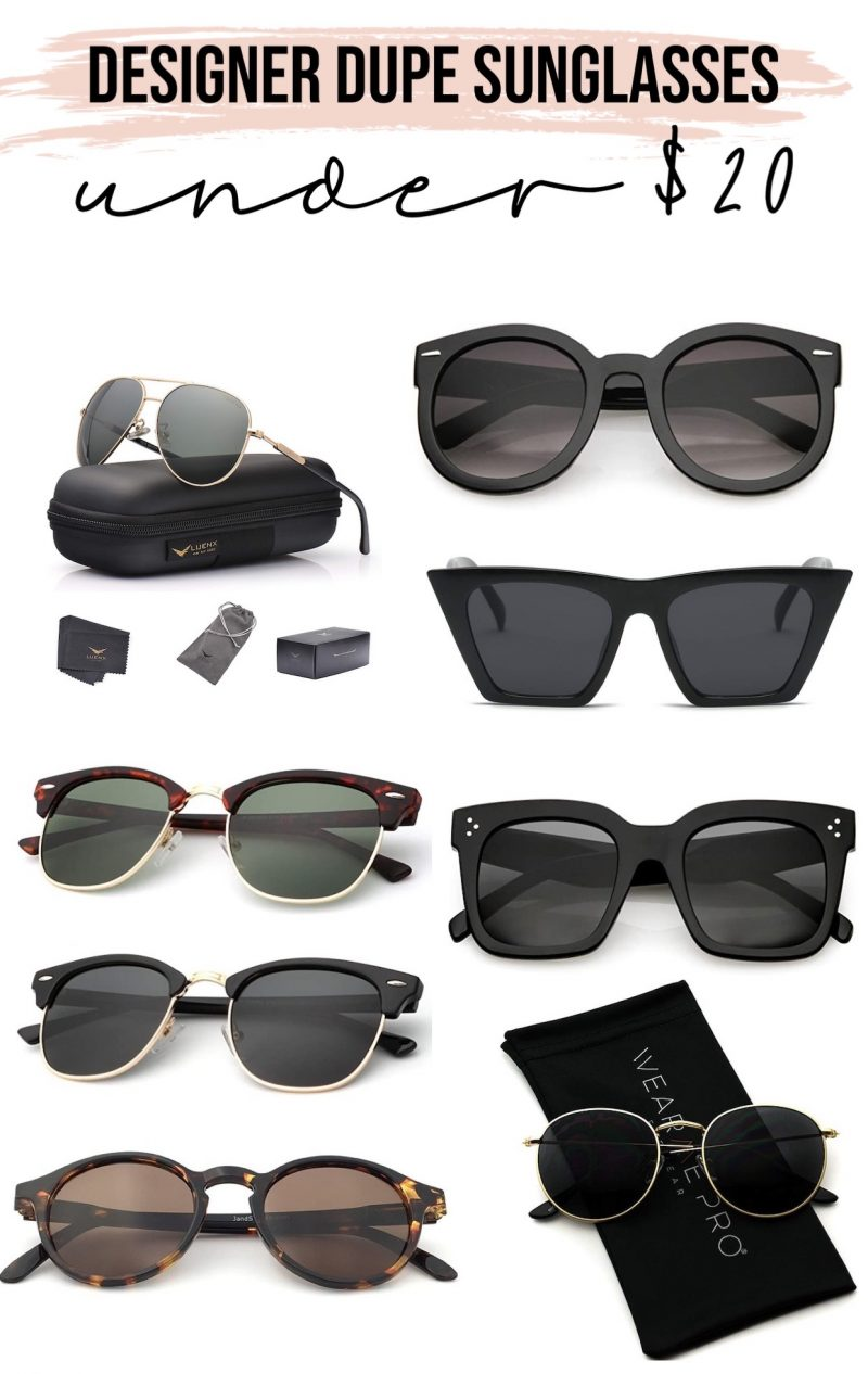 Designer Dupe Sunglasses Under $20