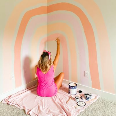 HOW TO CREATE A RAINBOW WALL