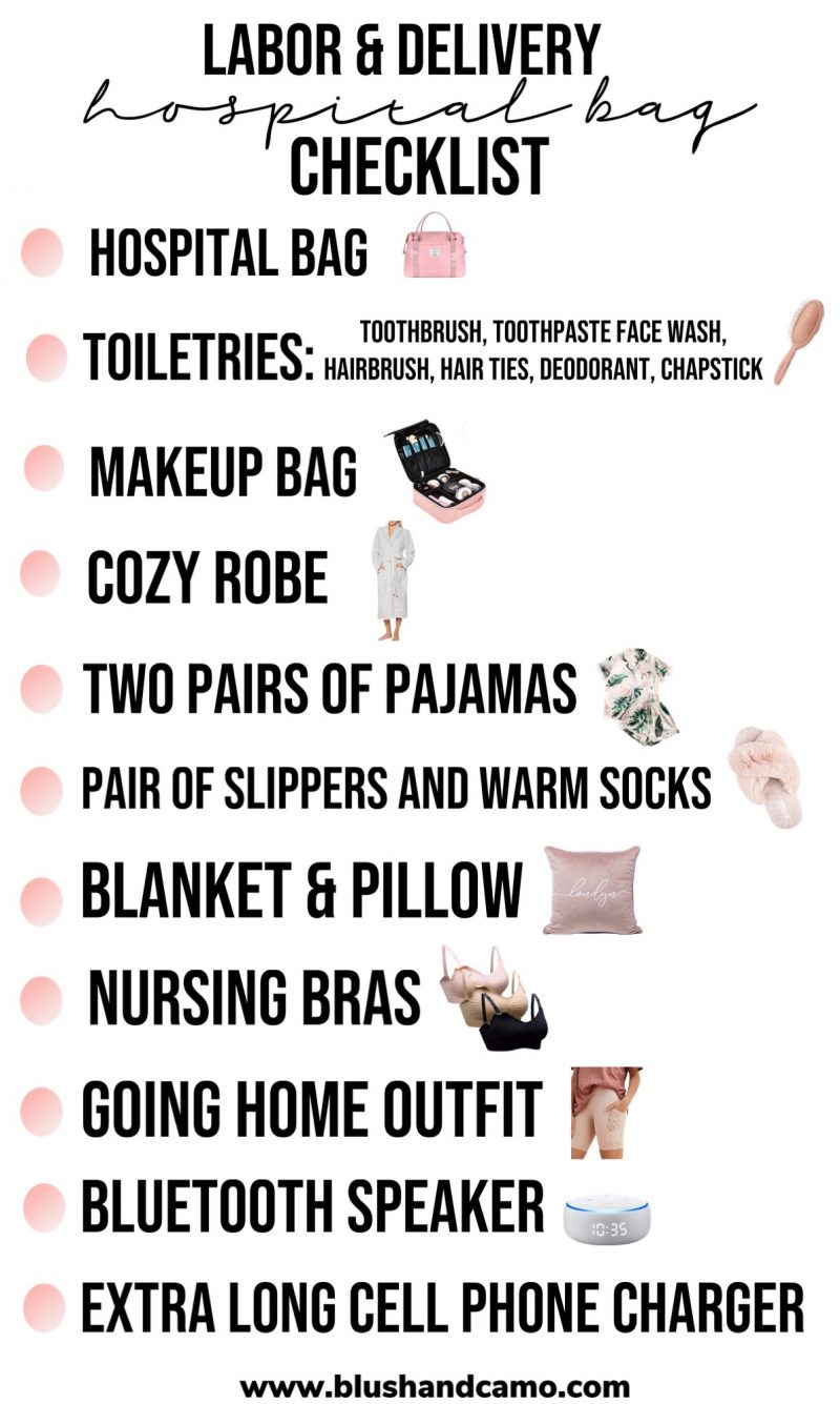 Labor & Delivery Hospital Bag Checklist